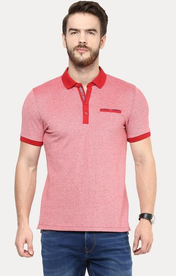 celio | Red Melange Polo T-Shirt