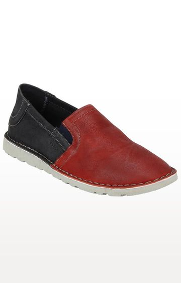 celio | Blue and Red Casual Slip-ons