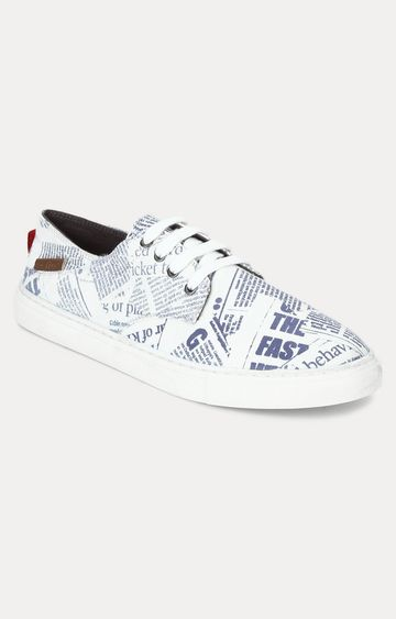 celio | White and Blue Sneakers
