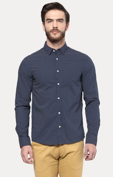 celio | Blue Patterned Casual Shirt
