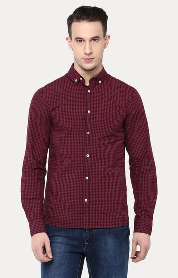 celio | Rouge Checked Casual Shirt