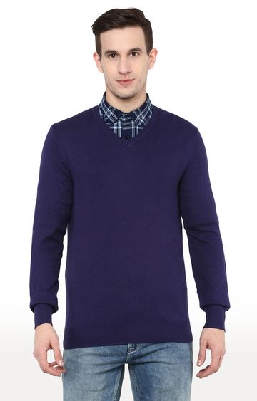 celio | Navy Solid Straight Fit Sweater