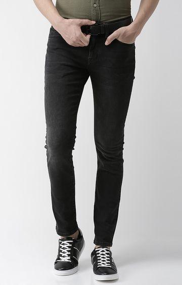celio | Black Solid Slim Fit Tapered Jeans