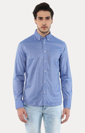 celio | Jaoxelbi Blue Printed Casual Shirt