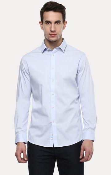 celio | Light Blue Solid Casual Shirt