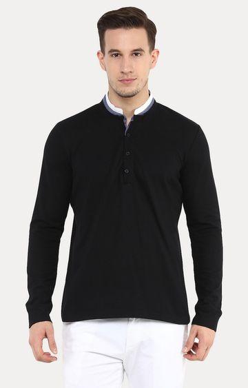 celio | Jedopple Black Solid T-Shirt