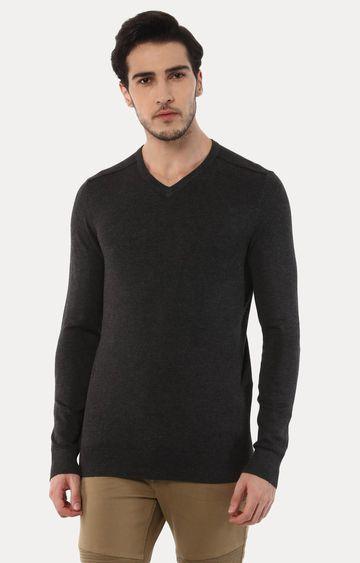 celio | Jegivre Charcoal Solid T-Shirt