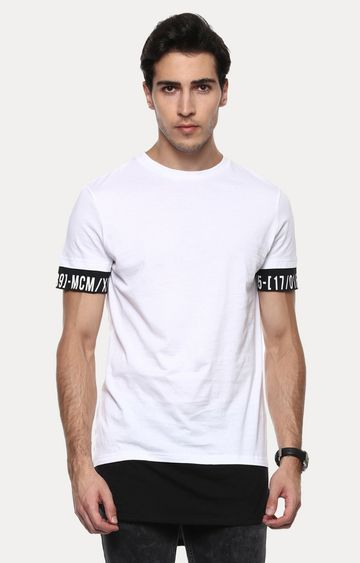 celio | Jepride Optical White Solid T-Shirt