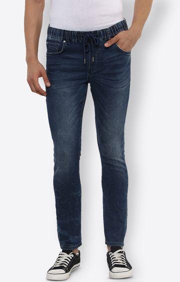 celio   Blue Solid Straight Jeans