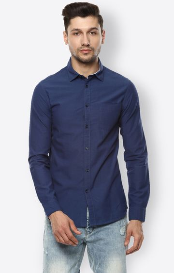 celio | Navy Solid Casual Shirt