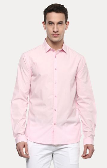 celio | Pink Solid Casual Shirt