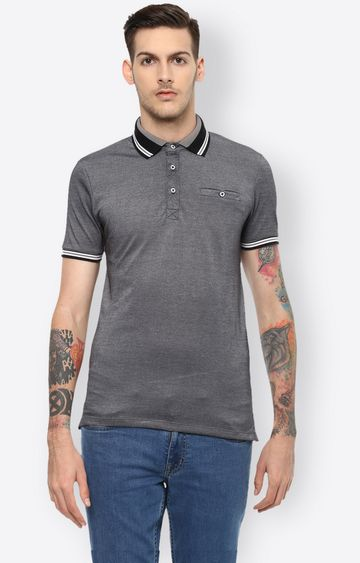 celio | Grey Melange Polo T-Shirt