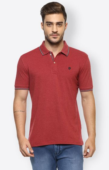 celio | Red Solid Polo T-Shirt