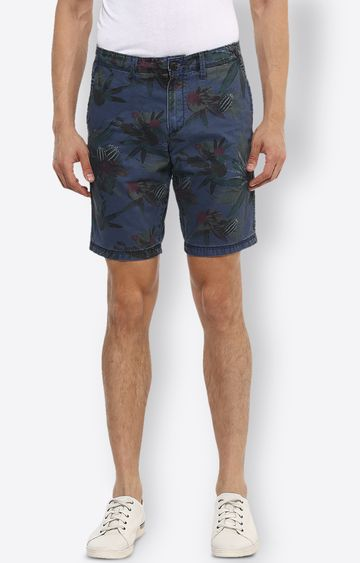 celio | Blue Printed Shorts