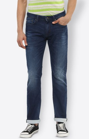 celio | Blue Solid Straight Slim Fit Jeans