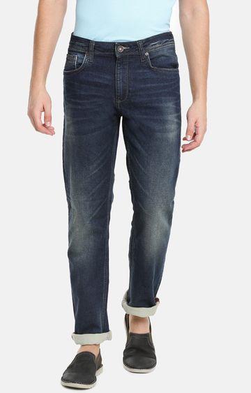 celio | Dark Blue Solid Straight Fit Jeans