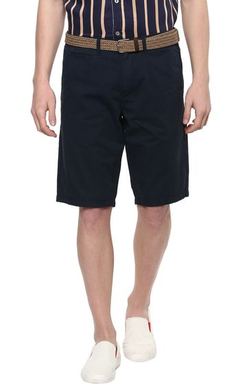 celio | Prussian Blue Solid Shorts