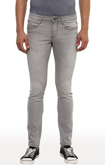 celio | Grey Solid Straight Slim Fit Jeans