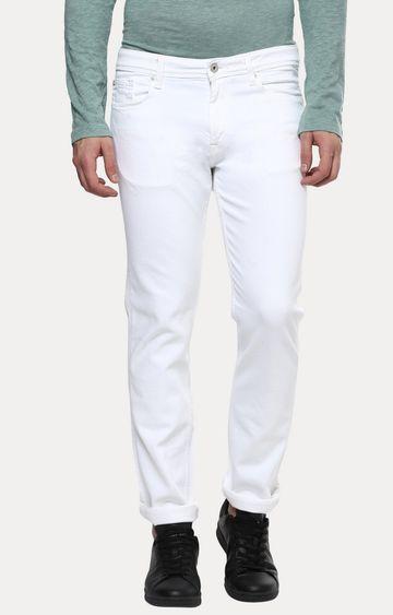 celio | White Straight Slim Fit Jeans