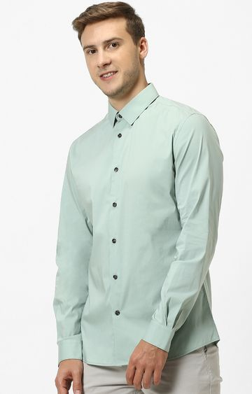 celio | Green Solid Casual Shirt