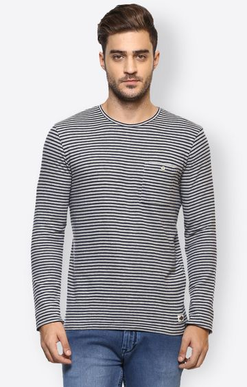 celio | Khaki Striped T-Shirt