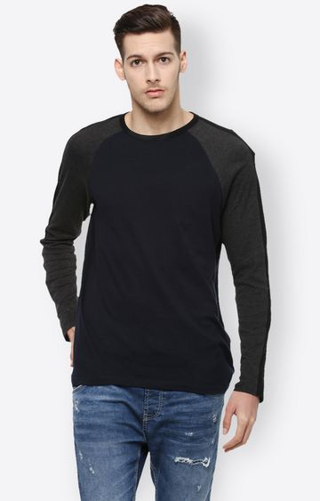 celio | Dark Navy Solid T-Shirt