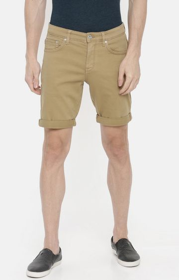 celio | Tan Solid Shorts