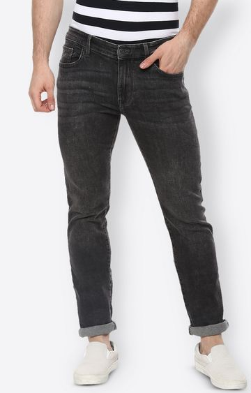 celio | Dark Grey Solid Straight Jeans
