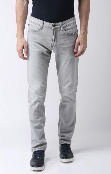 celio | Grey Solid Straight Slim Fit Jeans