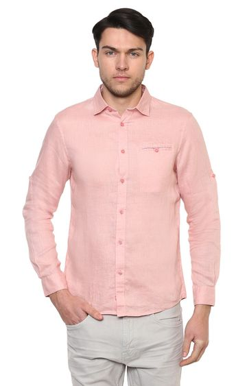celio | Old Pink Solid Casual Shirt