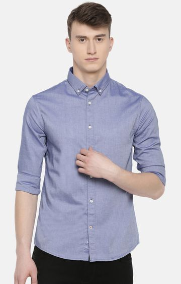 celio | Blue Solid Casual Shirt