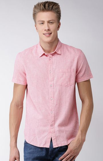 celio | Pink Checked Regular Fit Casual Shirt