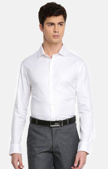 celio | White Solid Formal Shirt