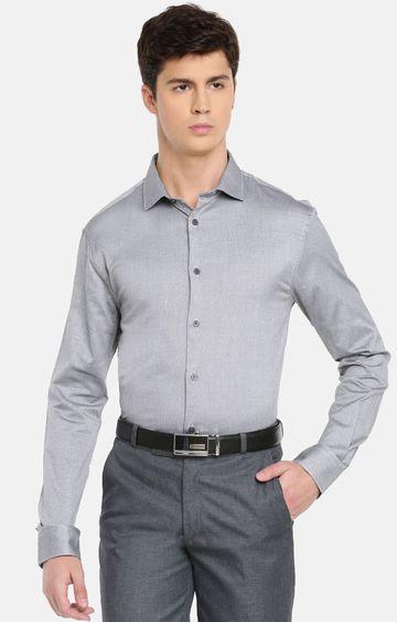 celio | Grey Solid Formal Shirt