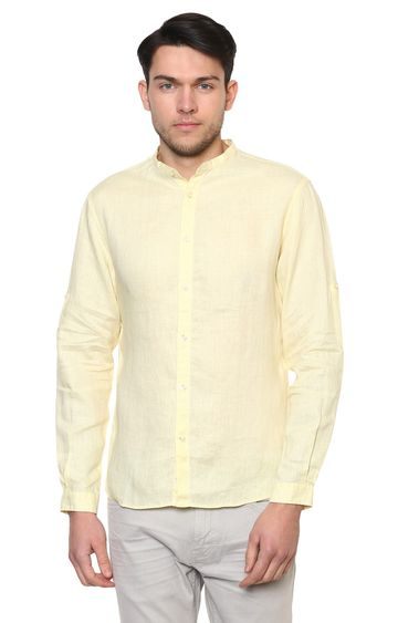 celio | Yellow Solid Casual Shirt