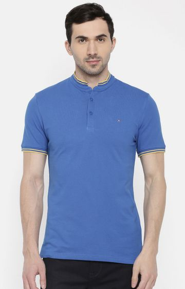 celio | Khaki Solid Regular Fit Polo T-Shirt