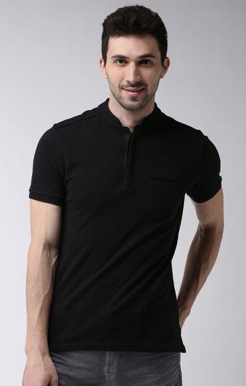 celio | Khaki Solid Regular Fit Polo T-Shirt