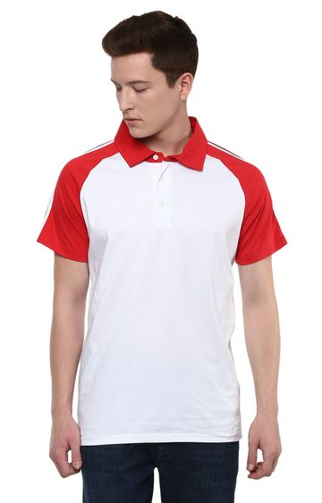 celio | White Solid Polo T-Shirt