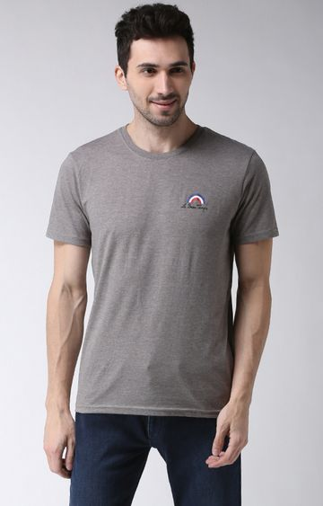 celio | Grey Solid T-Shirt