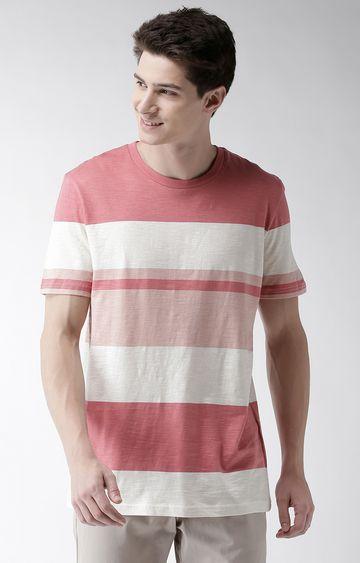 celio   Pink Striped T-Shirt