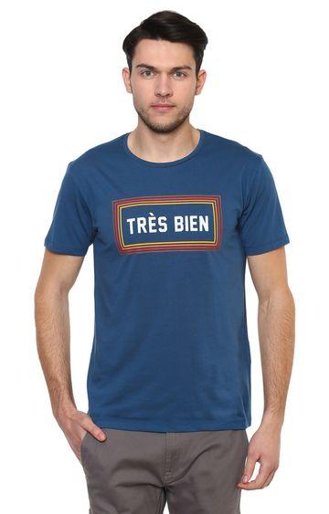 celio | Blue Printed T-Shirt