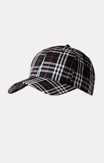 celio | Navy Checked Baseball Cap