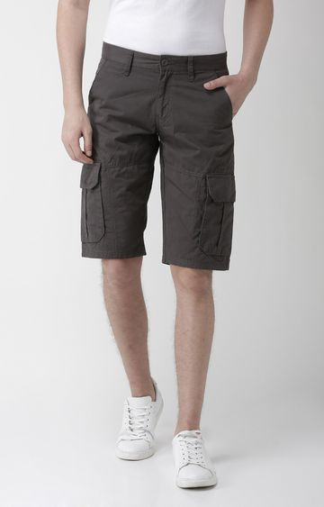 celio   Grey Solid Regular Fit Shorts