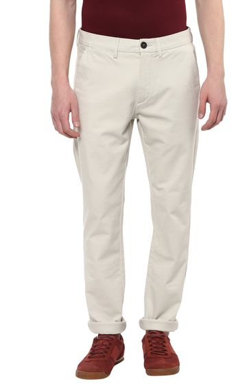 celio   Fawn Solid Slim Fit Chinos