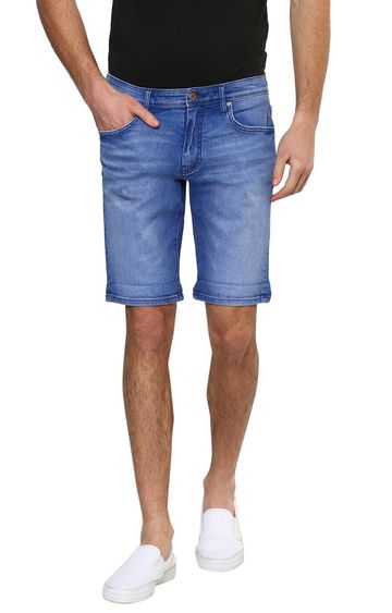 celio | Blue Solid Shorts