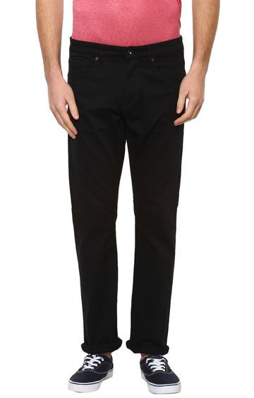 celio | Black Solid Straight Jeans