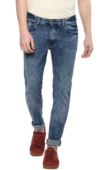 celio   Blue Solid Straight Skinny Fit Jeans