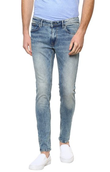 celio | Blue Solid Straight Skinny Fit Jeans