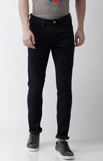 celio | Navy Solid Slim Fit Jeans