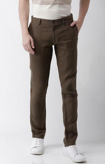celio | Brown Solid Slim Fit Chinos
